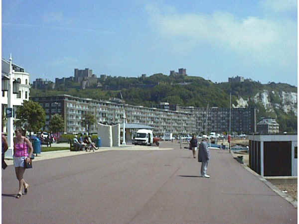 Dover seafront looking east